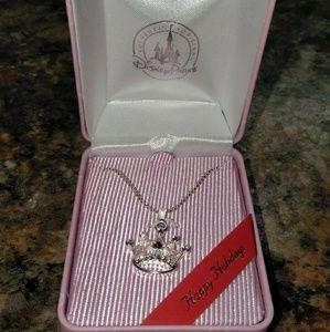 Nib swarovsky Crystal Disney Crown necklace so